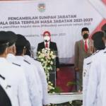 170 Kepala Desa Hasil Pilkades 2021 di Purwakarta Dilantik