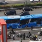 Tabrakan Dua Bus Transjakarta, 3 Orang Tewas