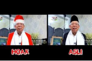 Penyebar Video Ma'ruf Amin Berpakaian Sinterklas Dilaporkan