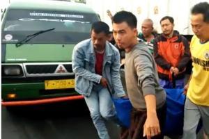 Pengendara Motor Tewas Terlindas Truk di Parungkuda Sukabumi