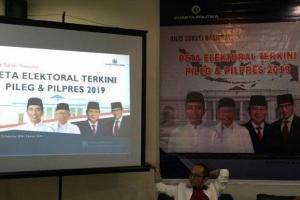 Hasil Survei Stagnasi, Jokowi-Ma'ruf 53,2 dan Prabowo-Sandi 34,1 Persen