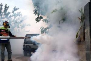 Antisipasi Lonjakan Kasus DBD, Polres Cianjur Gelar Fogging