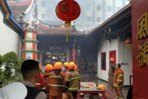Kebakaran di Vihara Samudra Bhakti Berhasil Dipadamkan