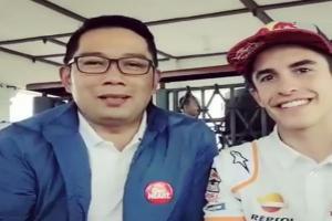 Gubernur Jabar Beri Hadiah Kujang ke Marc Marquez