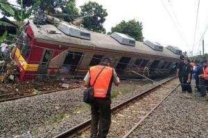 KRL Terguling di Bogor, Penumpang dan Masinis Jadi Korban
