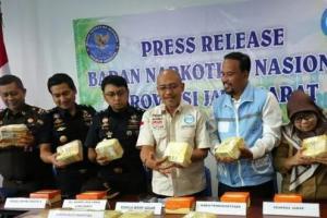 BNNP Jabar Gagalkan Penyelundupan 20 Kg Sabu