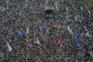 Di Cibinong, Prabowo Minta Pendukungnya Tak Takut Intimidasi