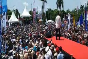 Kampanye di Ciamis, Prabowo Soroti Temuan KPK