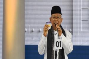 Silaturahim di Bekasi, KH Ma'ruf Amin Minta Didoakan Menang