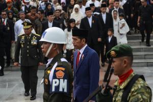 Presiden Jokowi Pimpin Pemakaman Hj Ani Yudhoyono
