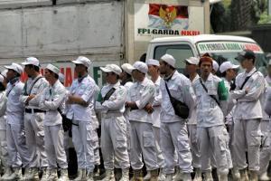 500 Lasykar FPI Bandung Ngotot Berangkat ke Jakarta