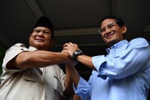 Prabowo dan Sandi Pantau Putusan MK dari Kertanegara