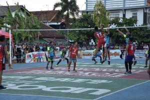 Meriahnya Turnamen Bola Voli dan Seni Mural di Kuningan