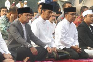 Presiden Jokowi dan Ibu Negara Salat Idul Adha di Bogor