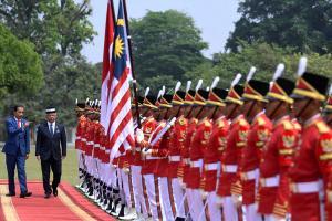 Pertemuan Presiden Joko Widodo dan Raja Malaysia di Istana Bogor