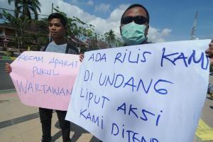 Solidaritas Liga Journalist Sukabumi untuk Sesama Wartawan