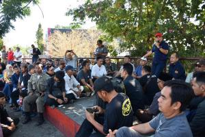 Bahas Taman Kota, Paguyuban PKL Kuningan Beraudiensi dengan Sekda