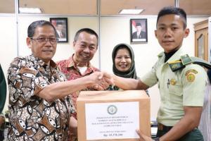 Polbangtan Bogor Serahkan Donasi untuk Korban Karhutla