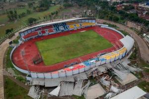 Atap Stadion Arcamanik Ambruk, Dispora Hitung Nilai Kerugian