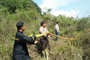 Karhutla di Nyalindung Sukabumi Diduga Akibat Puntung Rokok