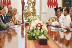 Delegasi Aksi Stop TBC Dunia Temui Presiden Jokowi