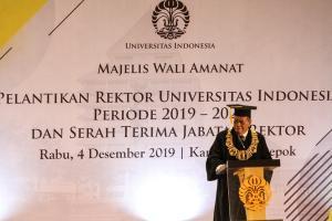 Rektor UI Lantik Empat Wakilnya