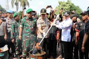 Polresta Bogor Kota Musnahkan Barang Bukti