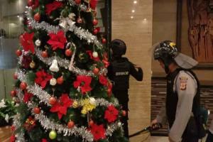Polres Cirebon Sterilisasi 9 Gereja Jelang Misa Natal