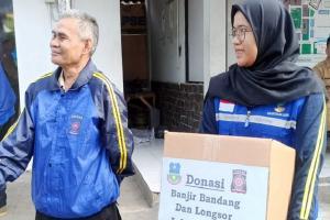Bantu Korban Banjir, Tagana Kabupaten Garut Galang Dana