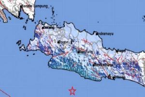 Kabupaten Garut Gempa, Getarannya Hingga Sukabumi