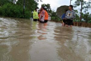 Banjir di Indramayu Mulai Surut