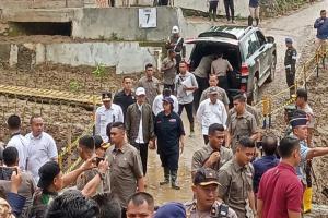 Presiden Tinjau Kampung Sinar Harapan yang Tertimpa Bencana Alam