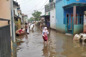 Hujan Lebat Sebabkan Kabupaten Bandung Kembali Dilanda Banjir