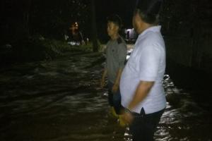 Tanggul Sungai Citarum di Muaragembong Bekasi Jebol