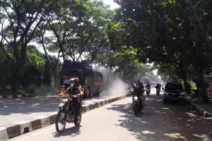 Polda Jabar Semprot Disinfektan ke 754 Lokasi