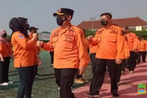 Antisipasi Lonjakan Covid-19, BPBD Bekasi Salurkan Belasan Ribu Masker