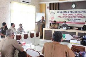 Kepala Desa se-Kecamatan Cilimus Kuningan Ikuti Pembinaan Pemberantasan Rokok Ilegal