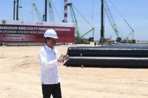Groundbreaking Smelter Freeport di Gresik, Jokowi: Ini Terbesar di Dunia
