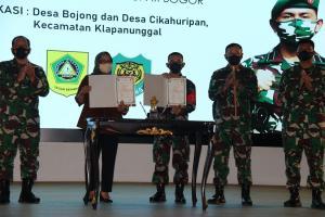 Pemkab Bogor Gandeng TNI Bangun Jalan Desa di Kec. Klapanunggal