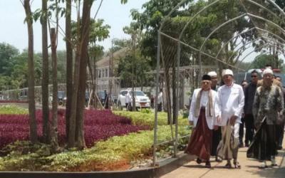 Ma'ruf Amin Hadiri Rapat Pleno PBNU di Purwakarta