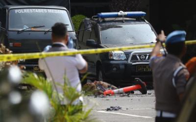 6 Orang jadi Korban Bom di Polrestabes Medan