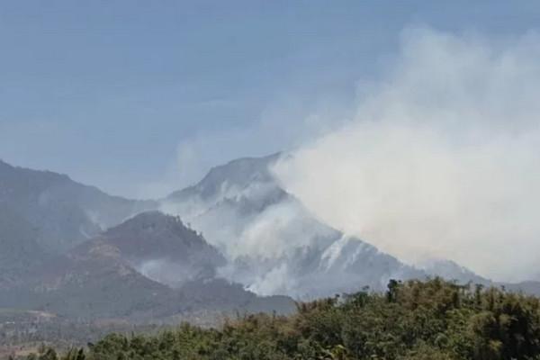 Kebakaran di Pegunungan Malabar Makin Meluas